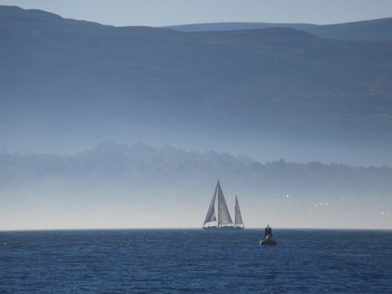 Alba Venturer photographed by Saltire Marine looking towards Holy Loch from the Kilcreggan Ferry on Thursday 1st October